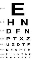 eye exam chart